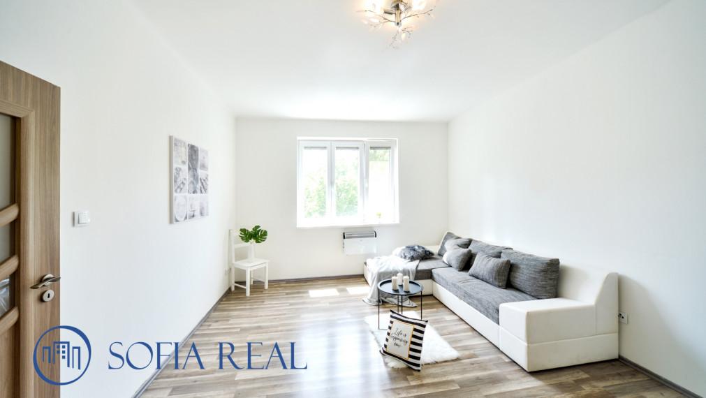 3D virtual: Tehlový 2-izbový byt, orientácia do vnútrobloku so zeleňou, širšie centrum, Šancova ul., Nové Mesto